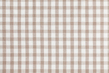 Beige Checkered Fabric. Tablec...