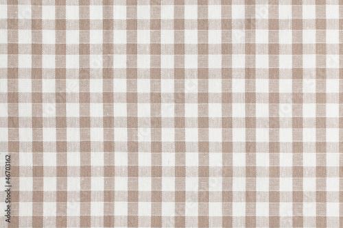 Fotografie, Obraz  Beige checkered fabric. Tablecloth texture