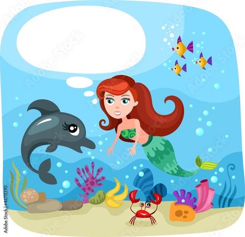 Recess Fitting Submarine mermaid
