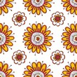 Cute seamless pattern with floral elements