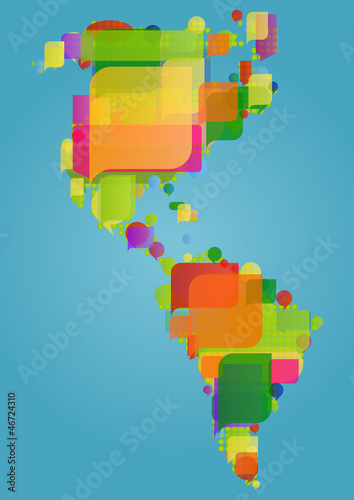 North south and central america continent world map made of col north south and central america continent world map made of col gumiabroncs Image collections