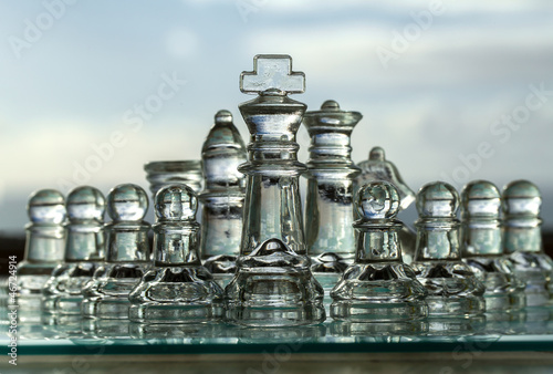 Photo Chess Pieces - Business Concept - company, strategy, management.