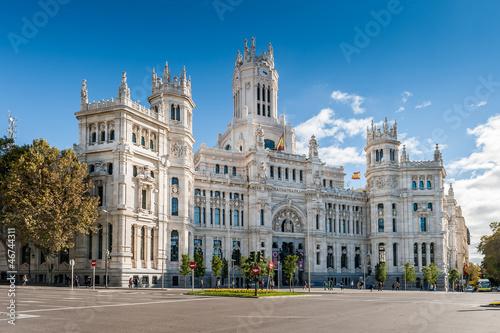 In de dag Madrid Palais des communications, Madrid