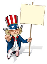 Uncle Sam 'I Want You' Placard