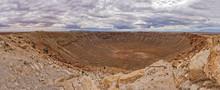 Panoramic View Of Meteor Crater In Arizona