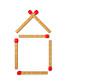 Haus aus Streichhölzchen - 3D