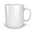 Blank white mug isolated on white background