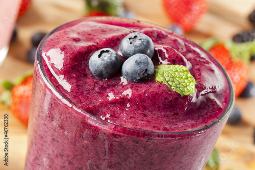 Fotografía  Fresh Organic Blueberry Smoothie
