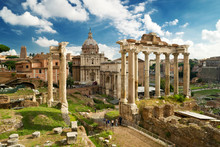 View Of The Roman Forum In Rom...