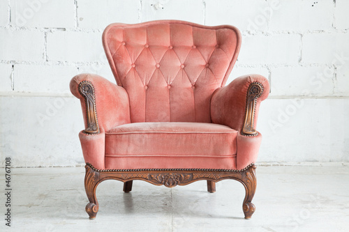 Pink Armchair sofa Canvas-taulu