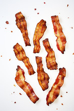 Strips Of Bacon Displayed On W...