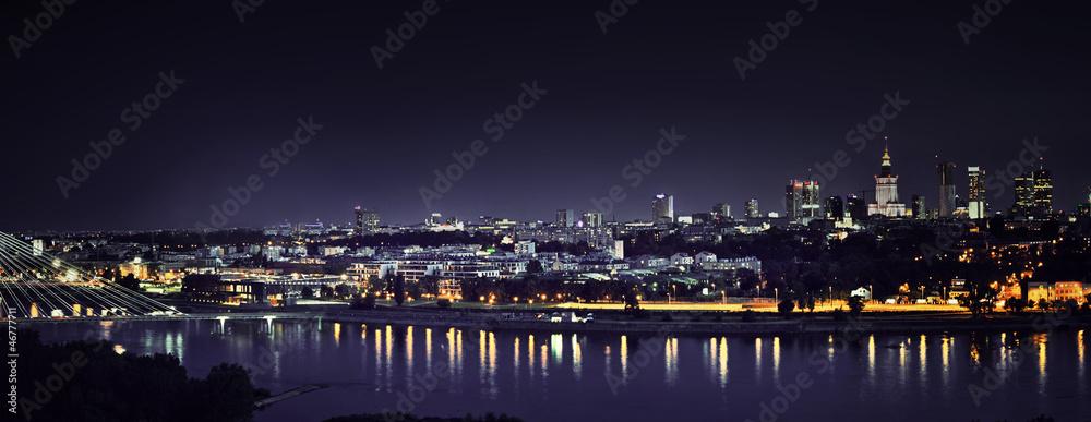Fototapety, obrazy: panorama warszawy