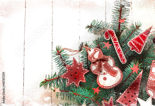 Vintage Paper Christmas Decoration On Christmas Tree Buy This