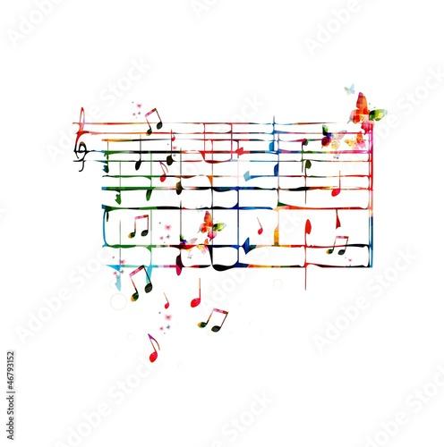 Fototapeta premium muzyka notatki tło
