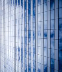 Fototapeta Architektura glass wall of office with reflection