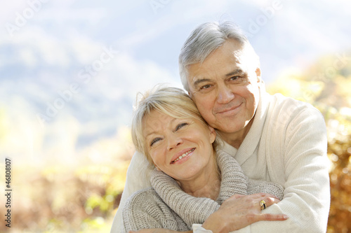 Fotografie, Obraz  Senior couple embracing each other in countryside