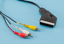 Tv Scart Cable Connector Audio...