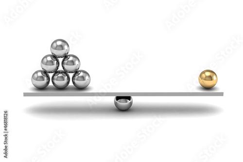 Fényképezés  disbalance (high resolution 3D image)