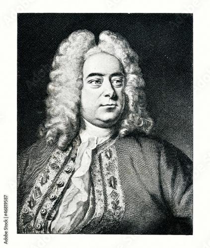 Pinturas sobre lienzo  Portrait of composer George Frideric Handel