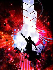 Fototapeta Do dyskoteki Music poster