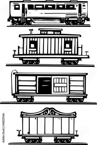 Fotografie, Obraz  Train Car Collection
