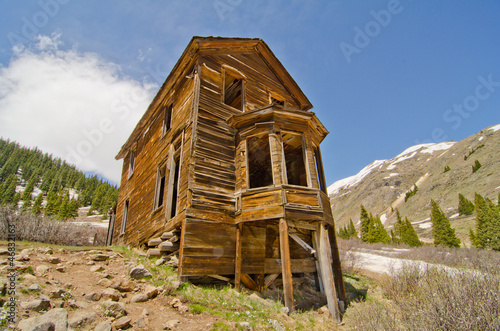 Fotografie, Obraz  The Largest Preserved House in Animas Forks, a Ghost Town in the