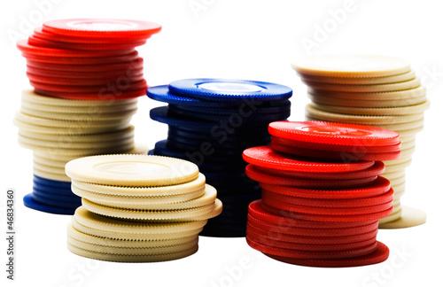 фотография  Stack of gambling chips