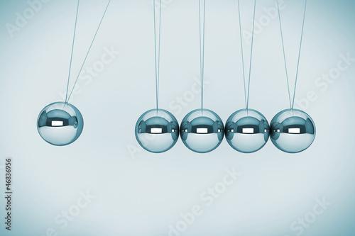 Spheres of Newton Fotobehang