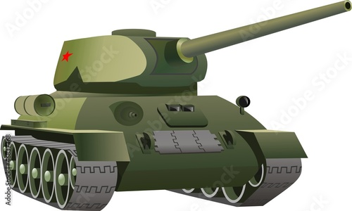 Photo sur Aluminium Militaire Русский танк