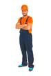 Cheerfful constructor worker