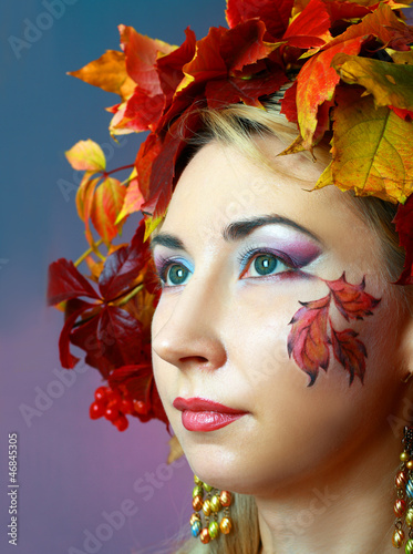 Fototapety, obrazy: Autumn Woman