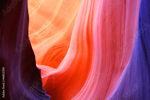 Staande foto Canyon Antelope Slot Canyon, Page, Arizona, USA