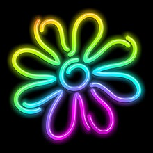 Flower Daisy Psychedelic Neon ...