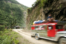 Jeepney Mountain Road Banaue Philippines