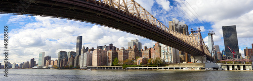 NYC Queensboro Bridge and Manhattan panorama