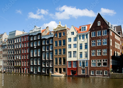Photo  Facade of houses in Amsterdam