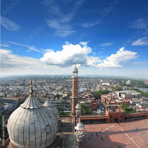 Crédence de cuisine en verre imprimé Delhi Inde - Mosquée Jama Masjid à Delhi