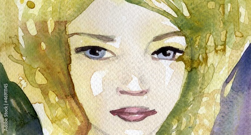 Poster Inspiration painterly illustration of a woman