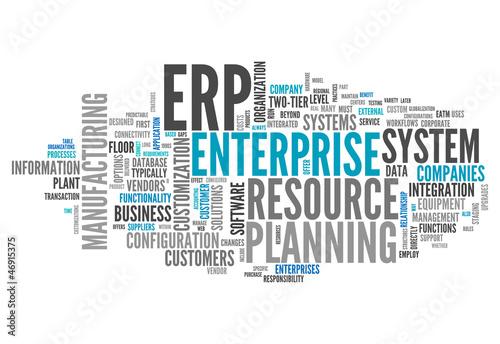 "Fotografie, Obraz  Word Cloud ""Enterprise Resource Planning"""