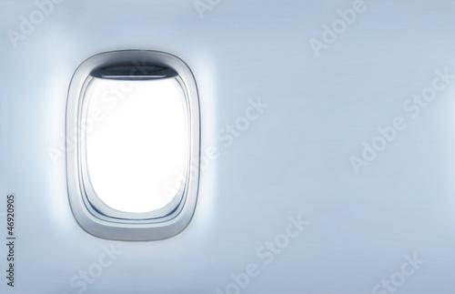 Türaufkleber Flugzeug empty porthole