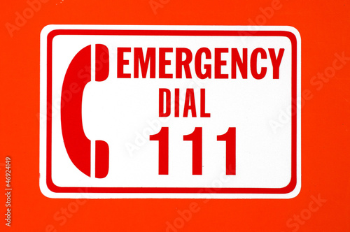 Fotografie, Obraz  Emergency call 111