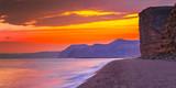 sunset over freshwater beach