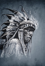 Native American Indian Head, C...