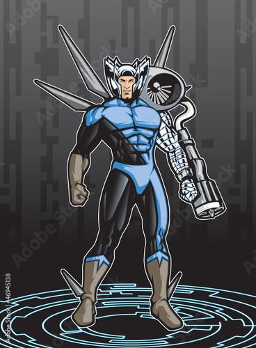 Poster Superheroes Super4 B