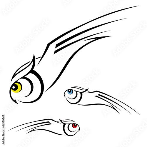 Fotografie, Tablou  Owl illustration