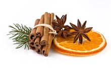 Orange Slice, Cinnamon With Fi...