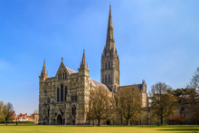 Salisbury Cathedral Front View...