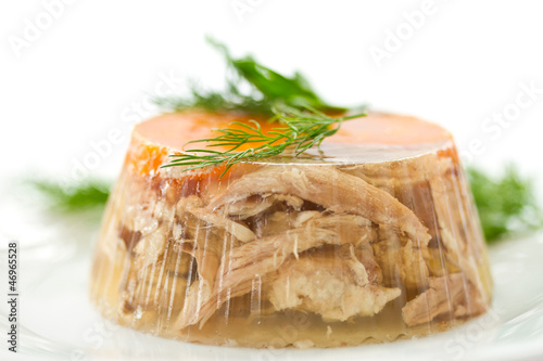 Photo meat aspic