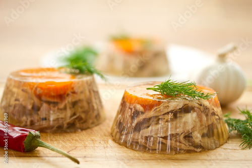 meat aspic Canvas Print