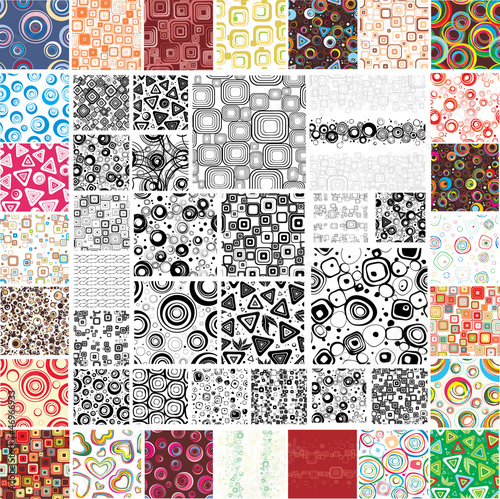 Mix Collection multicolored and monochrome seamless textures